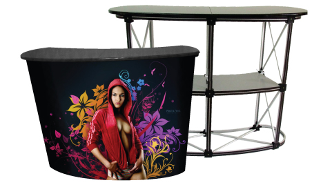 Exhibition Booth Backdrop : Booth table & counter malaysia exhibition booth display system